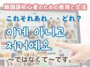 〜ではなくて〜です。 | 韓国語初心者のための表現と文法 #06