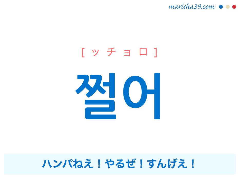 韓国語・ハングルで表現 쩔어 ハンパねえ!やるぜ!すんげえ! [ッチョロ] 歌詞を例にプチ解説