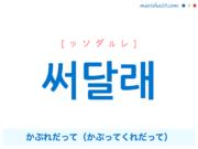 韓国語で表現 써달래 [ッソダルレ] かぶれだって(かぶってくれだって) 歌詞から学ぶ