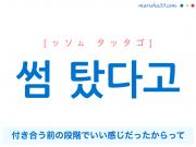 韓国語・ハングルで表現 썸 탔다고 付き合う前の段階でいい感じだったからって [ッソム タッタゴ] 歌詞を例にプチ解説